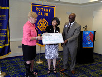 Pictured: l-r Rotary Club of Sandy Springs members Fran Farias, Tamara Carrera (Executive Director, CAC), Cory Jackson and Jim Squire