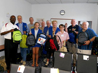Rotary Club of Sandy Springs Packs School Book Bags At CAC Friday August 9, 2013